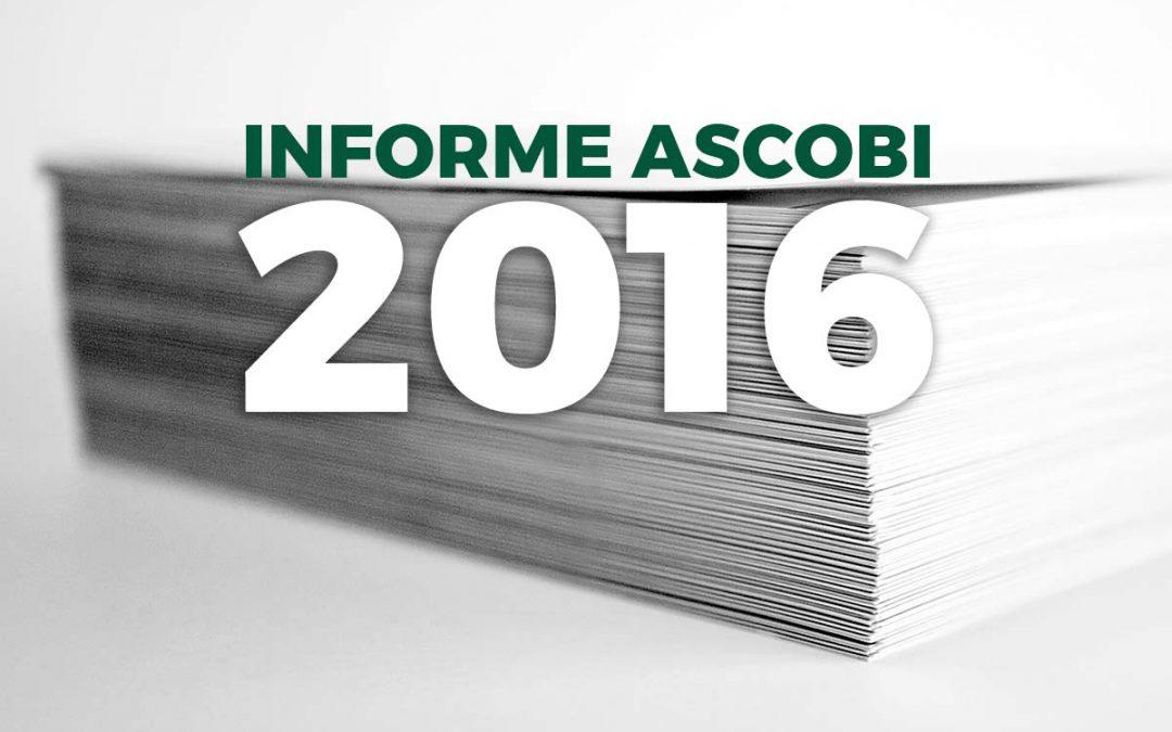 Presentado el Informe Ascobi 2016