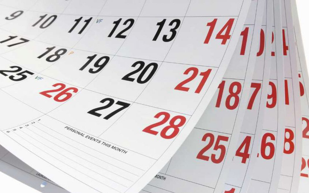 Firmado calendario del sector para el año 2020